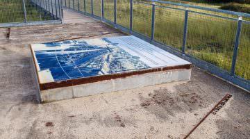 Le belvédère bande porteuse de la réserve naturelle d'Arjuzanx