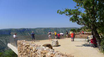 Le belvédère de la cascade à Blandas