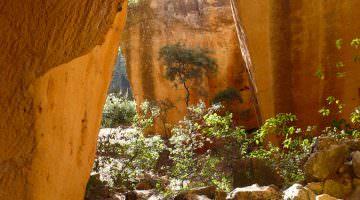 Bibemus : parcours sur le plateau rocheux
