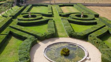Le chateau Beaulieu, le jardin à la française