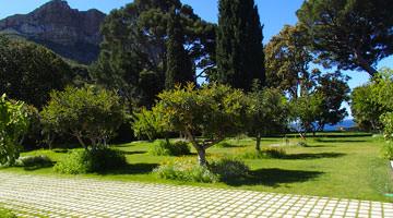 Le domaine de Lorca : jardin dallé