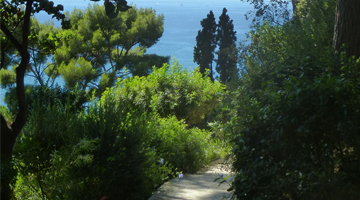 Le domaine de Lorca vue sur la mer