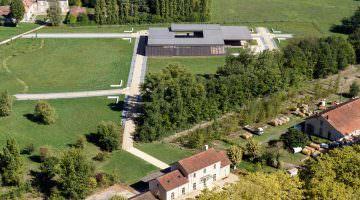 Elusa, la vue aérienne du site