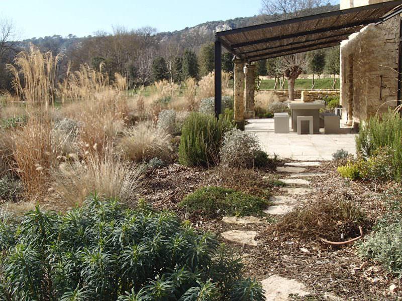 Jardin privé dans le Luberon