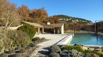 Jardin privé : le bassin