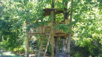 Jardin privé dans le Luberon : la cabane
