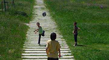 Parc Sant Vicens : la grande prairie