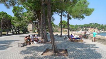 Paulilles à Port-Vendres : l'esplanade des 4 tours