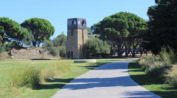 Paulilles à Port-Vendres : la vigie et l'arc panoramique