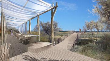la plage de Pampelonne : parcours