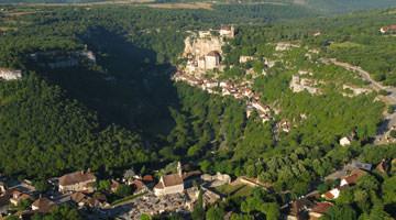 Rocamadour : vue aérienne du site