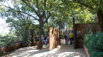 Les Ocres de Roussillon : l'entrée principale