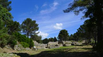 Le site archeologique de Saint-Blaise : l'enceinte héllénistique
